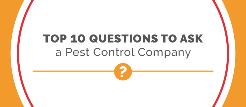 questions to ask a pest control company