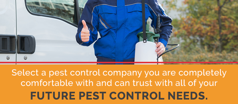 select a pest control company you can trust